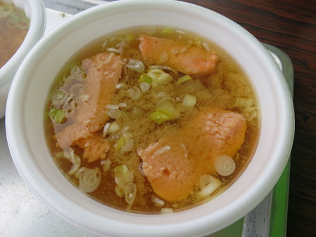 名立大鍋まつり2015 甘エビのつみれ汁¥250