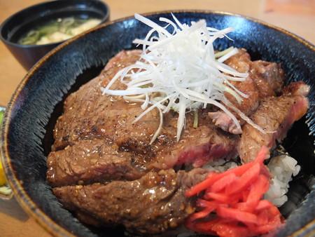 スノーマン ステーキ丼(160g) アップ