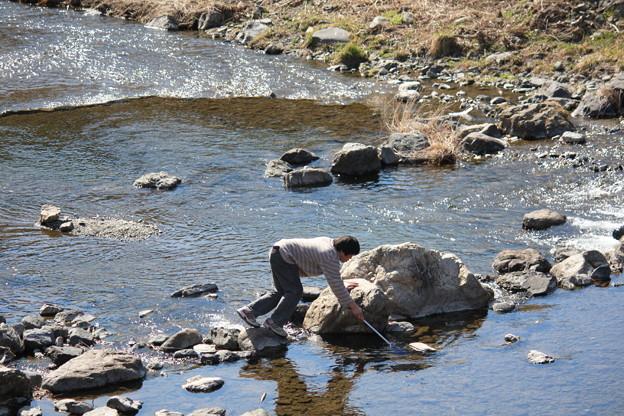 春♪川遊び♪