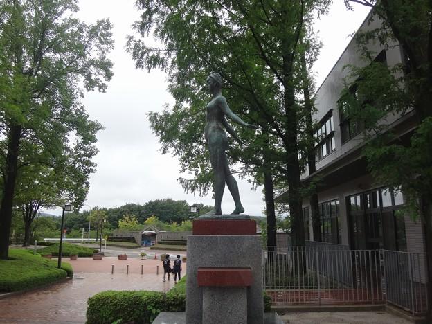 雨の大学玄関