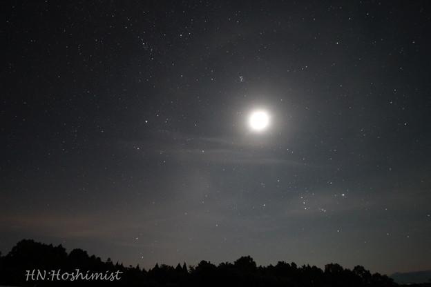 Photos: 19-月と昇る冬の星座たち