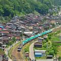 Photos: 奈良井駅俯瞰 3084レ