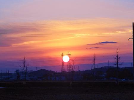 20111228 穏やかな夕陽