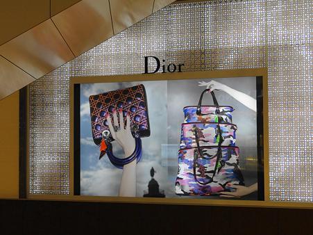 DiorのPRコーナーの壁写真
