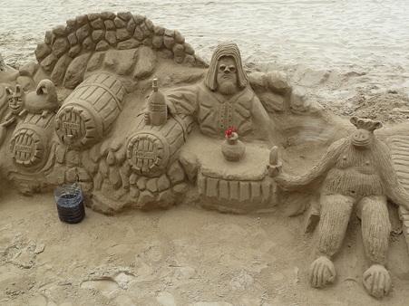 砂のアート!