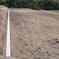 Photos: U字溝の敷設完了