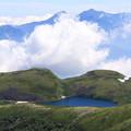 白馬大池と沸き立つ雲