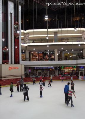 ショッピングモールでスケート