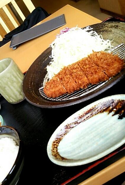 お昼御飯は和幸でとんかつヽ(・∀・)ノ うまうまだった(*´ω`*)