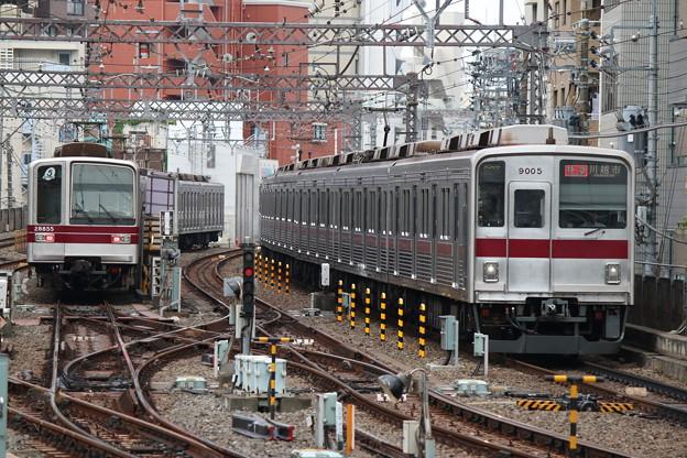 東武本線20050系 21855F・東上線9000系 9105F