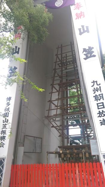 2015年 博多祇園山笠 飾り山笠 建設中 写真画像 (8)