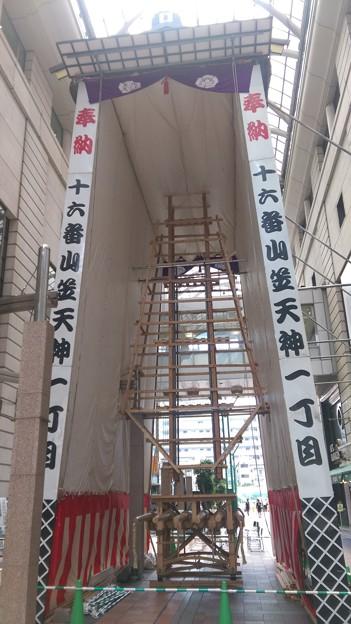 2015年 博多祇園山笠 飾り山笠 建設中 写真画像 (10)