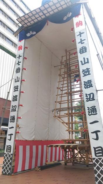 2015年 博多祇園山笠 飾り山笠 建設中 写真画像 (11)