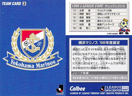 横浜マリノスのチェックリスト画像