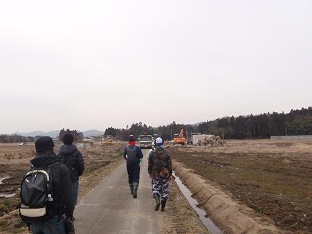 山元町 がれき撤去作業現場周辺
