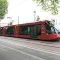 写真: メストレの街のトラム1