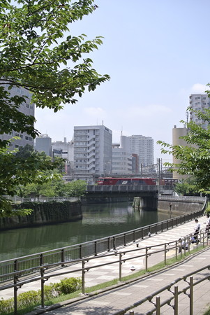 五反田ー大崎の目黒川にて