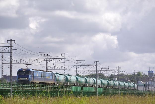 中央本線多摩川橋梁にて