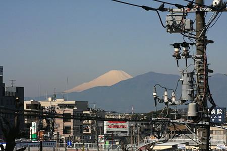 2012.03.29 吉野梅郷 最寄り駅から富士山