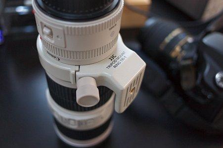 2012.05.17 机 JJC製 EF70-200mm F4L IS 用 リング式三脚座