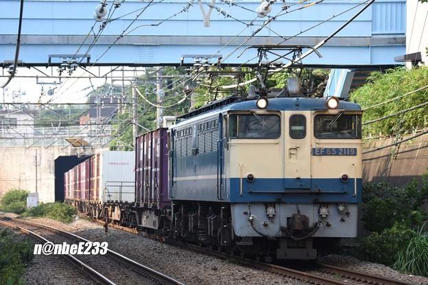 74レ EF65 2119+コキ
