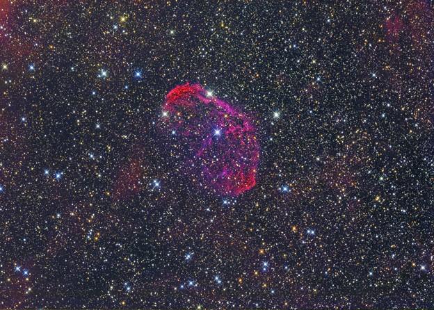 弧状星雲(三日月星雲) NGC6888