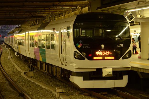 E257系中央ライナー1号新宿発車