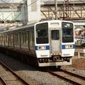 415系K528編成750M小山行き下館3番発車