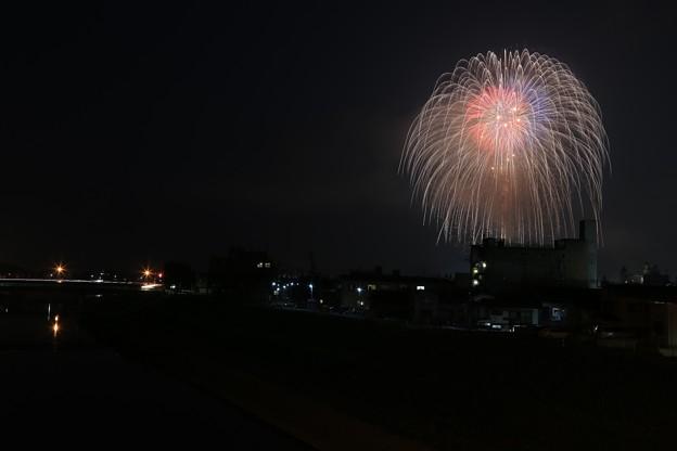 初の花火撮影
