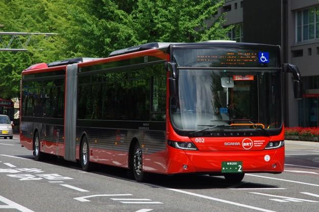 """新潟市BRT(萬代橋ライン) 連節バス""""ツインくる"""" 2号車"""
