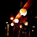 和菓子店の軒先