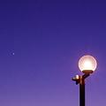 写真: 一番星の夕空