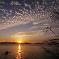 写真: 秋の夕陽