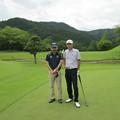 足利城ゴルフ倶楽部でプレーしたライバルK氏と2015.6.20