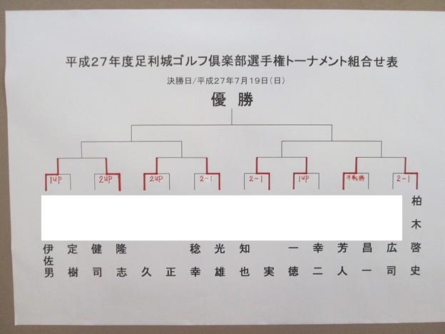 写真: 足利城ゴルフ倶楽部選手権1回戦マッチプレー結果2015.7.5