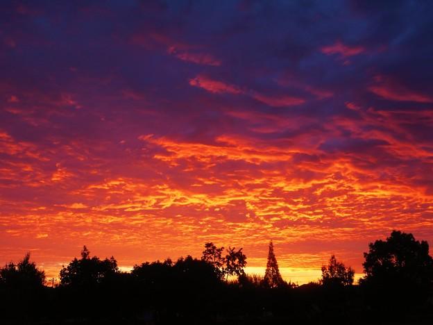 今朝の朝焼け~備後路の秋~