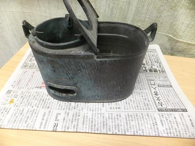 大阪より燗銅壺到着