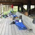 イワナ釣りのキャンプで使用