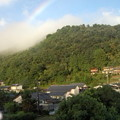 虹が架かっていました(6時頃、宿・阿波の抄から撮影)。今日も良いこと...