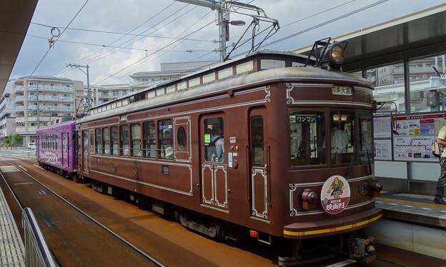 嵐電(京福電鉄嵐山線)モボ21型+モボ611型
