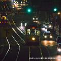 写真: 夜も忙しいひよこの電車。