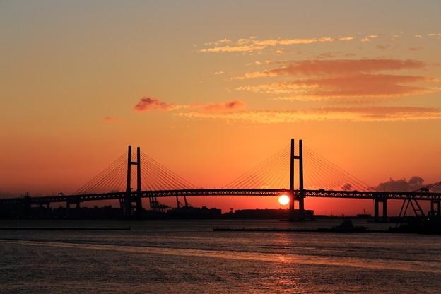 大桟橋の日の出
