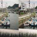 Photos: 川辺に船