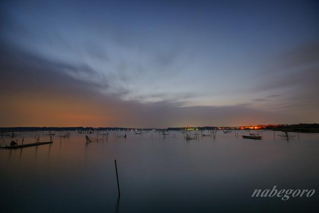 印旛沼の夜明け