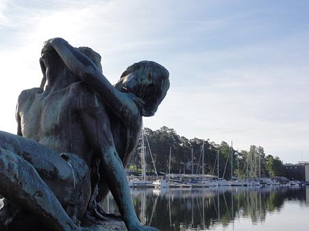ストックホルムのヨットハーバー・彫刻2