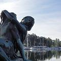 写真: ストックホルムのヨットハーバー・彫刻2