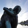 写真: ストックホルムのヨットハーバー・彫刻3
