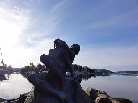 ストックホルムのヨットハーバー・彫刻4