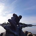 写真: ストックホルムのヨットハーバー・彫刻4