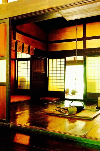 昔のリビング。。懐かしい日々を思い出すほど。。川崎市日本民家園6月28日